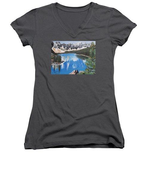 Lake Louise  Women's V-Neck T-Shirt