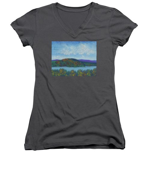 Lake Mahkeenac Women's V-Neck