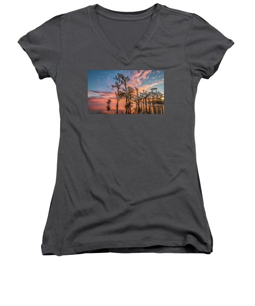 Lake Maurepas On Fire Women's V-Neck