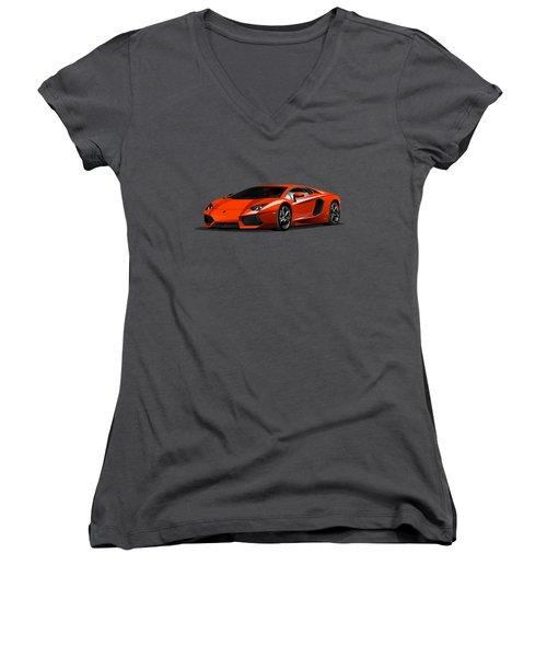 Lamborghini Women's V-Neck (Athletic Fit)