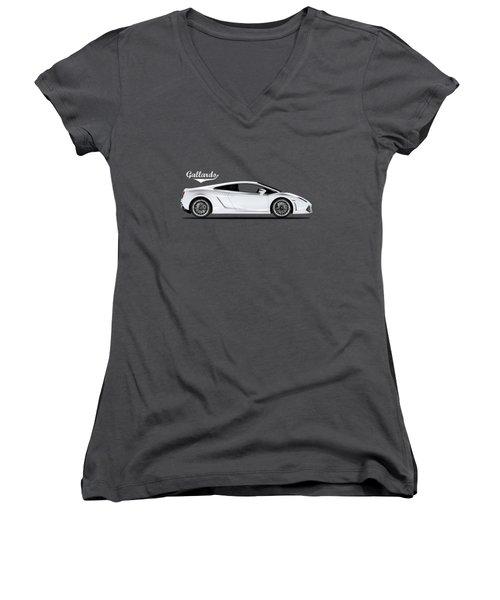 Lamborghini Gallardo Women's V-Neck T-Shirt