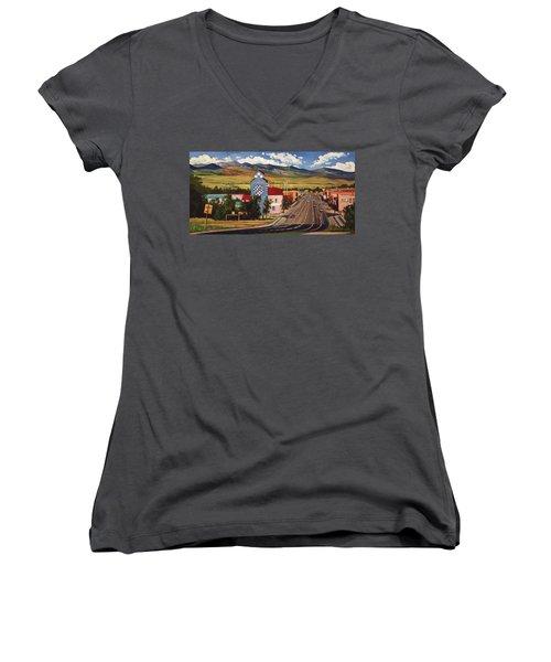 Lander 2000 Women's V-Neck T-Shirt (Junior Cut) by Art West