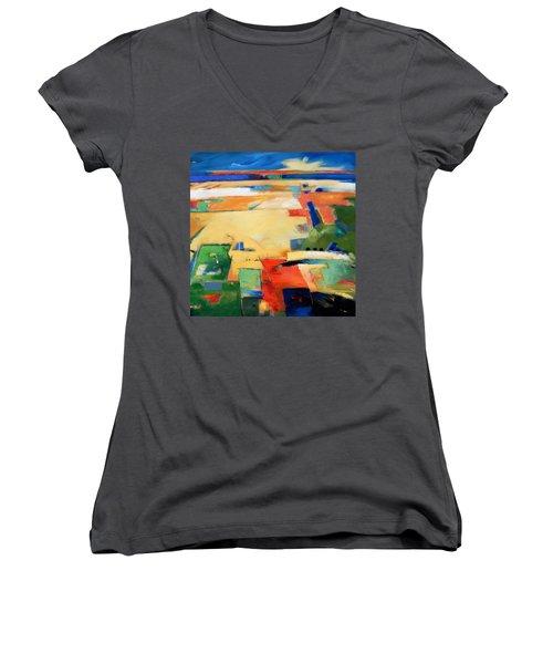 Landforms, You've Never Been Here Women's V-Neck T-Shirt