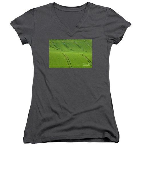 Landscape 5 Women's V-Neck T-Shirt (Junior Cut) by Jean Bernard Roussilhe