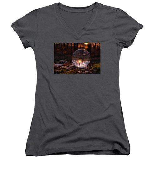 Landscape Women's V-Neck T-Shirt (Junior Cut) by Craig Szymanski