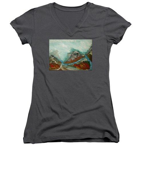 Landscape. Fantasy 19-2. Women's V-Neck T-Shirt