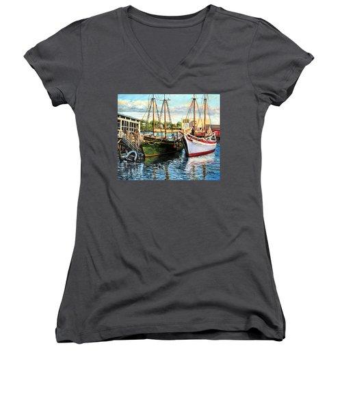 Lannon And Ardelle Gloucester Ma Women's V-Neck T-Shirt