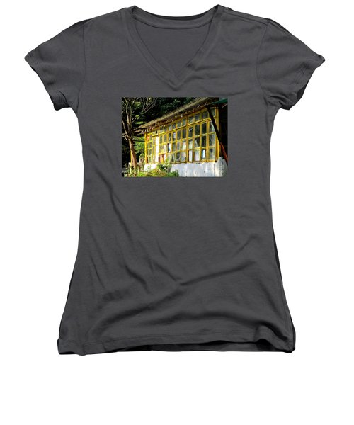 Women's V-Neck T-Shirt (Junior Cut) featuring the photograph Lantau Island 46 by Randall Weidner