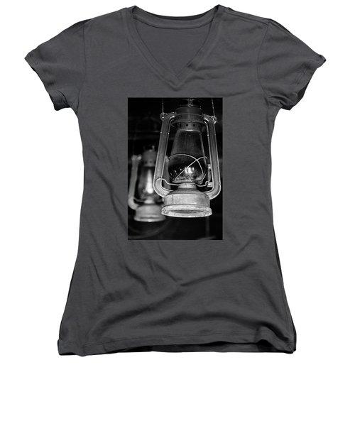 Lanterns Women's V-Neck T-Shirt (Junior Cut) by Jay Stockhaus