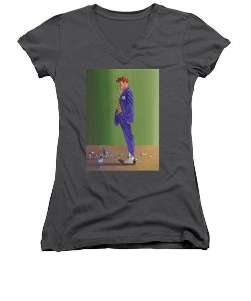 Larry Lightshoes Women's V-Neck T-Shirt