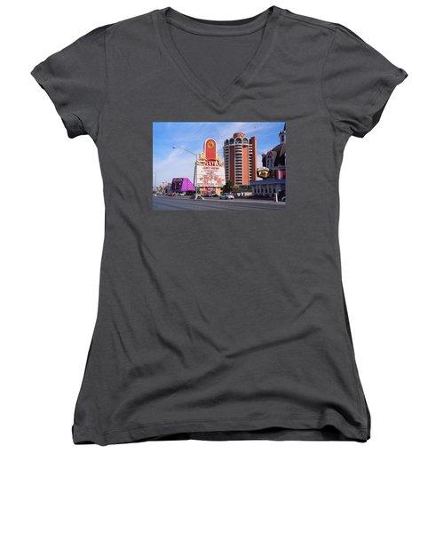 Las Vegas 1994 #1 Women's V-Neck T-Shirt (Junior Cut) by Frank Romeo