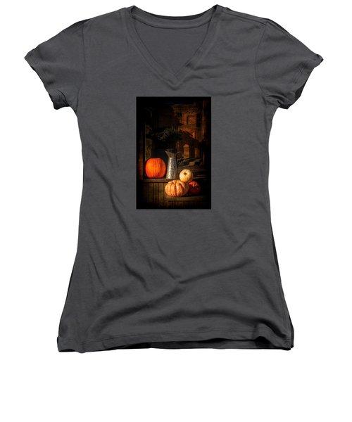 Last Autumn Sunlight Women's V-Neck T-Shirt