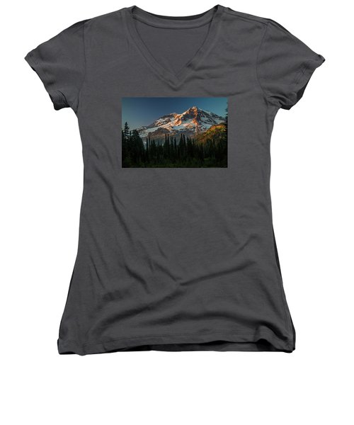 Last Light-2 Women's V-Neck (Athletic Fit)