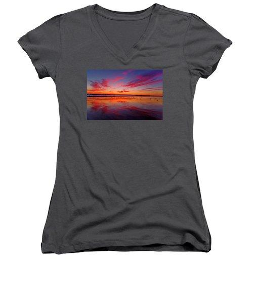 Last Light Topsail Beach Women's V-Neck T-Shirt