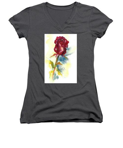 Last Rose Of Summer Women's V-Neck