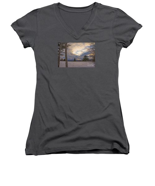 Last Sunset Of 2015 Women's V-Neck (Athletic Fit)