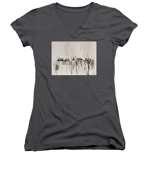 Last Supper Women's V-Neck (Athletic Fit)