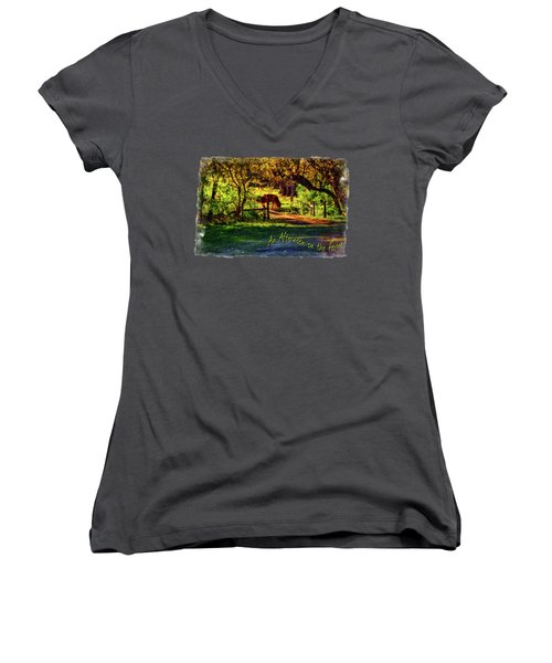 Late Afternoon On The Farm Women's V-Neck