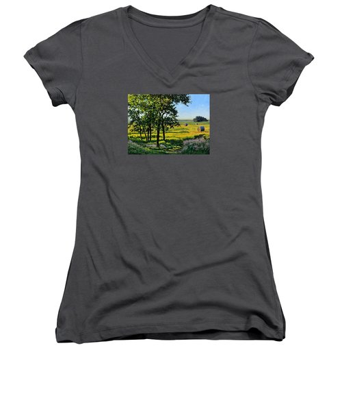 Late Afternoon Pasture Women's V-Neck