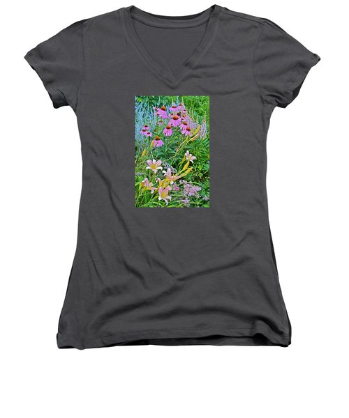 Late July Garden 3 Women's V-Neck (Athletic Fit)
