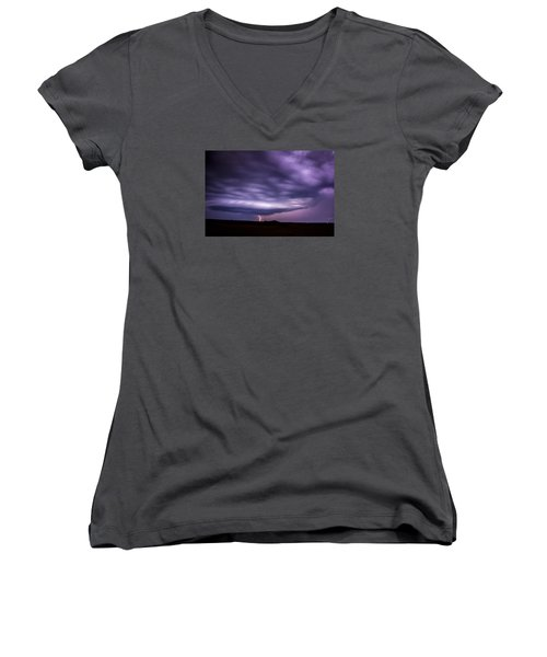 Late July Storm Chasing 033 Women's V-Neck