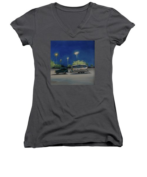 Late Night Shopping Women's V-Neck (Athletic Fit)