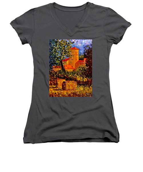 A Gust Of Wind.. Women's V-Neck T-Shirt (Junior Cut) by Cristina Mihailescu