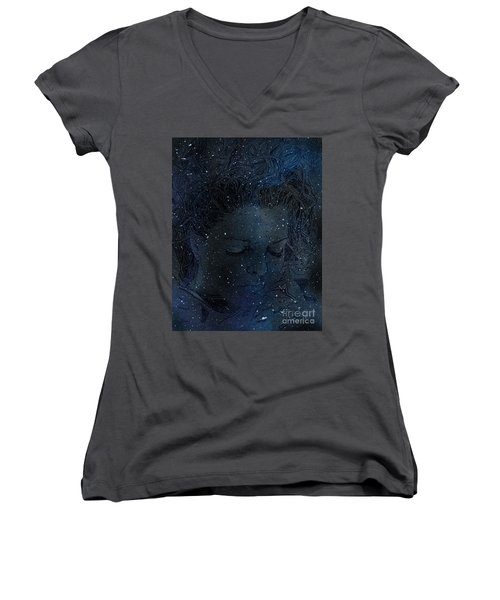 Eat At Judys Laura Palmer Carrie Page Nebula Women's V-Neck (Athletic Fit)