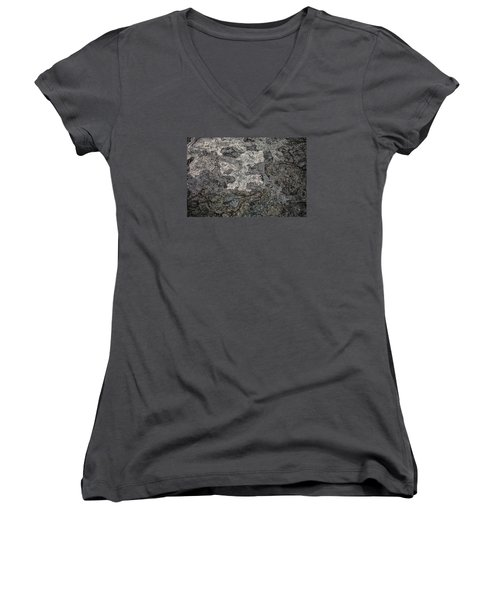 Women's V-Neck T-Shirt (Junior Cut) featuring the photograph Lava Flow by M G Whittingham