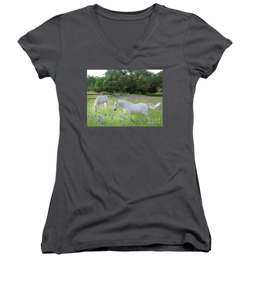 Lavender Pastures Women's V-Neck (Athletic Fit)