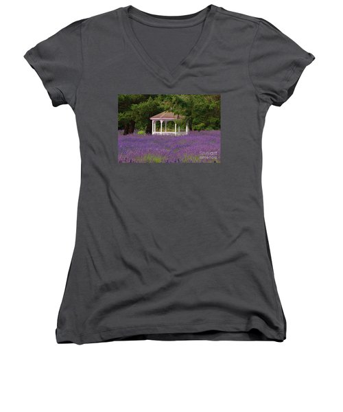 Lavender Gazebo Women's V-Neck (Athletic Fit)
