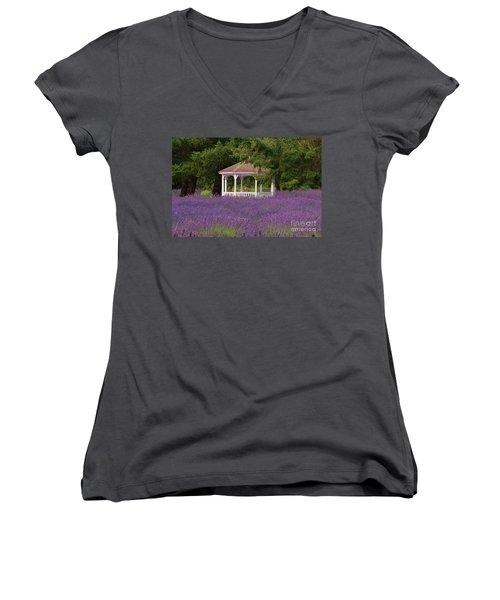 Lavender Gazebo Women's V-Neck T-Shirt