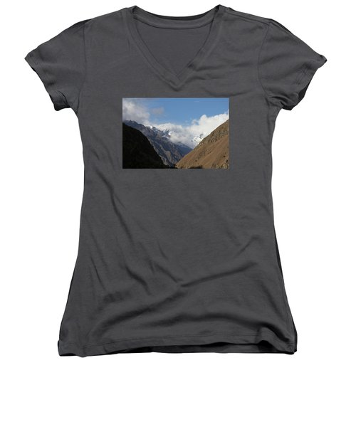 Layers Of Mountains Women's V-Neck (Athletic Fit)