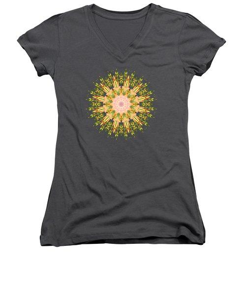Leaf Nouveau Women's V-Neck T-Shirt (Junior Cut) by Mary Machare