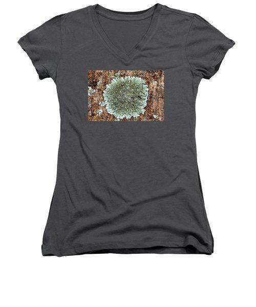 Leafy Lichen Women's V-Neck (Athletic Fit)