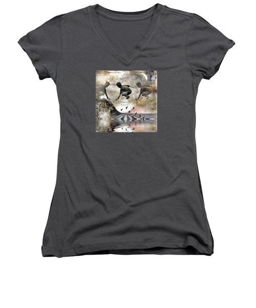 Lean On Me Women's V-Neck T-Shirt
