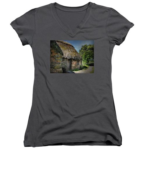 Leanach Farmhouse Culloden Moor  Women's V-Neck (Athletic Fit)