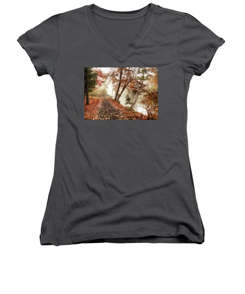 Leaning Tree Women's V-Neck (Athletic Fit)