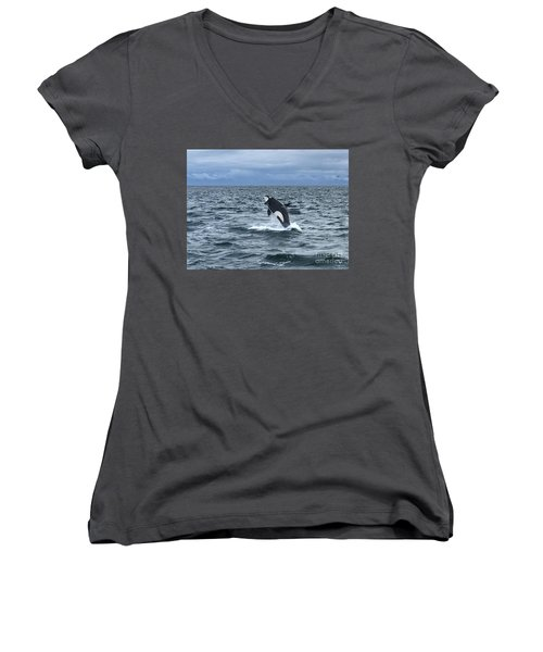 Leaping Orca Women's V-Neck