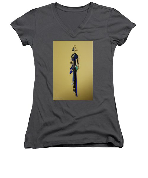 Leash Lady Just Hanging On The Wall Women's V-Neck (Athletic Fit)