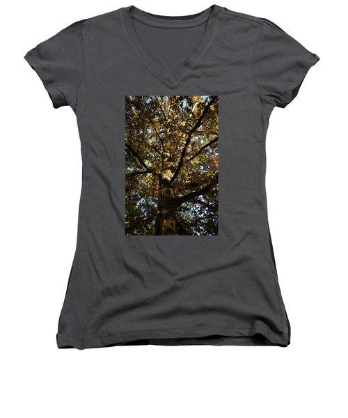 Leaves And Branches Women's V-Neck (Athletic Fit)