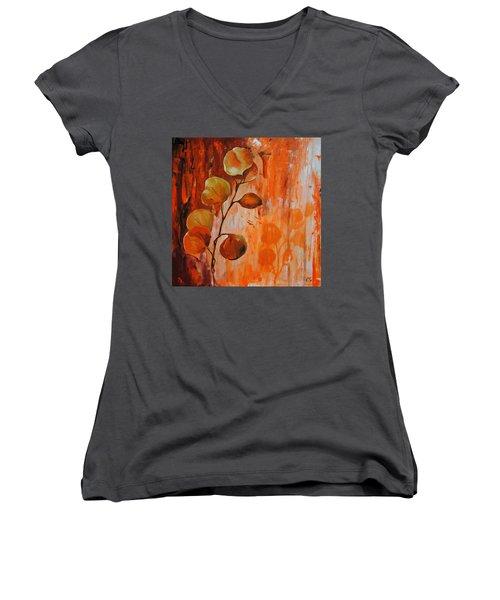 Leaves1 Women's V-Neck T-Shirt