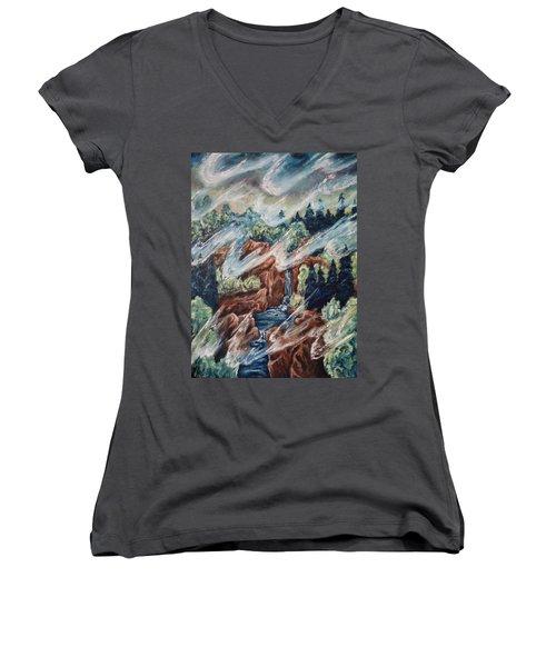 Leaving Eden Women's V-Neck T-Shirt
