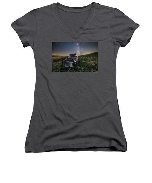 Left To Rust Women's V-Neck T-Shirt