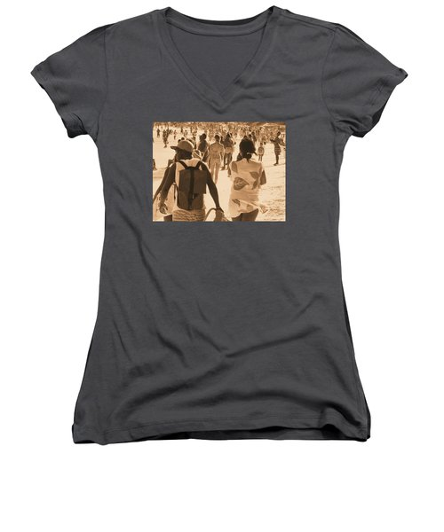 Women's V-Neck T-Shirt (Junior Cut) featuring the photograph Legion by Beto Machado