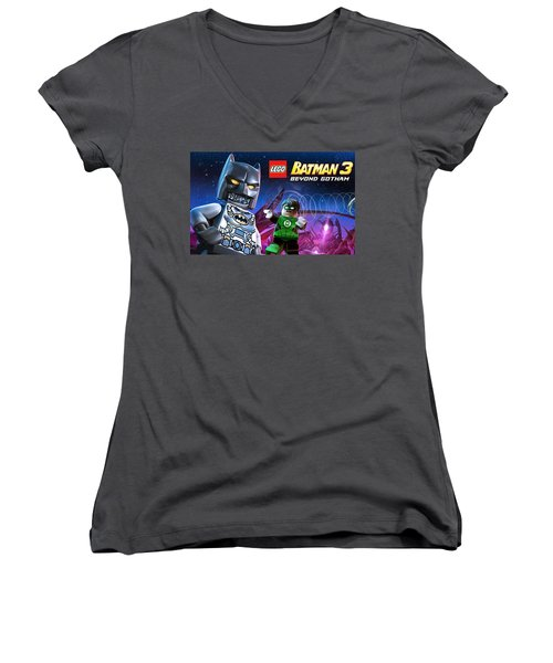Lego Batman 3 Beyond Gotham Women's V-Neck