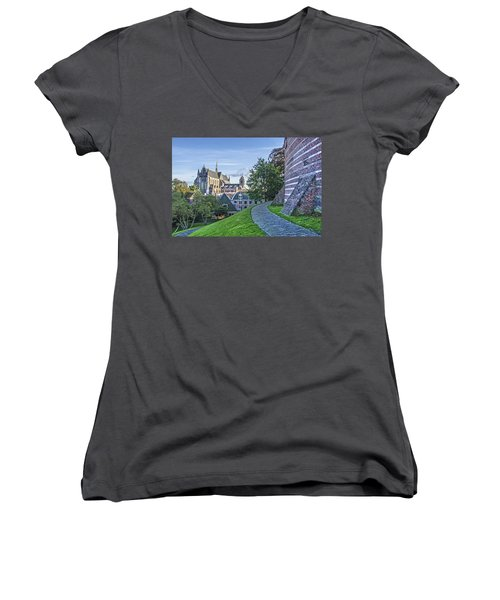 Leiden, The Church And The Castle Women's V-Neck