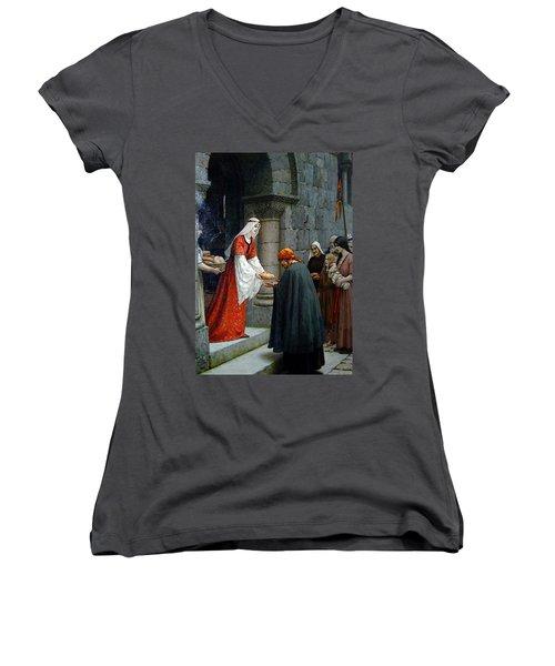 Leighton Edward Blair Charity Of St Elizabeth Of Hungary Women's V-Neck T-Shirt