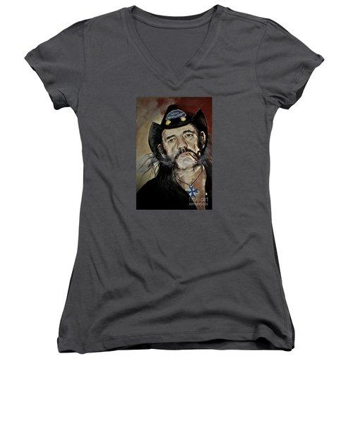 Lemmy Kilmister Motorhead Women's V-Neck (Athletic Fit)