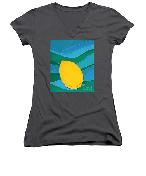 Lemon Slice Women's V-Neck T-Shirt